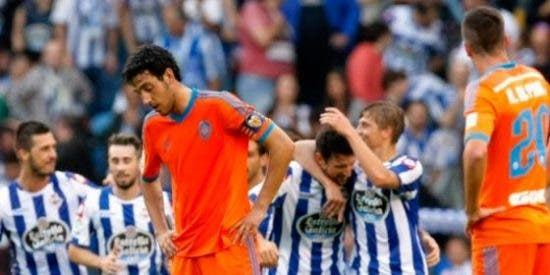 El Depor aplasta al Valencia en Riazor y el Sevilla ya es segundo