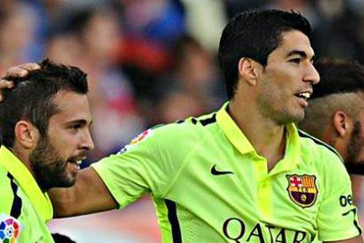 El Barça se salva por los pelos en Almeria, gracias a Suárez y Neymar