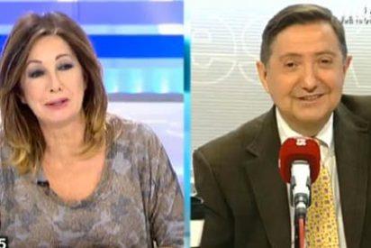 """Ana Rosa pone en un brete a Losantos: """"Cuando el PP compraba acciones de Libertad Digital a lo mejor no le atizabas"""""""