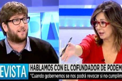 """Ana Rosa pone en su sitio a Urbán (Podemos): """"Nosotros vivimos la Transición, no digáis que inventasteis la democracia"""""""