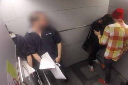 ¿Sabes lo que hace la gente cuando ven que maltratan a una mujer en un ascensor?