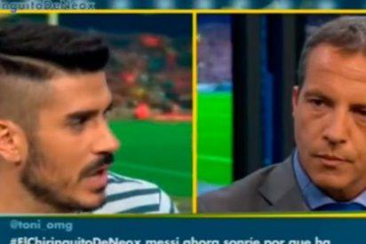 """Álvaro Benito le da la primera en la frente a Cristóbal Soria: """"Si vas a hablar de tonterías no hablo contigo; yo hablo de fútbol"""""""
