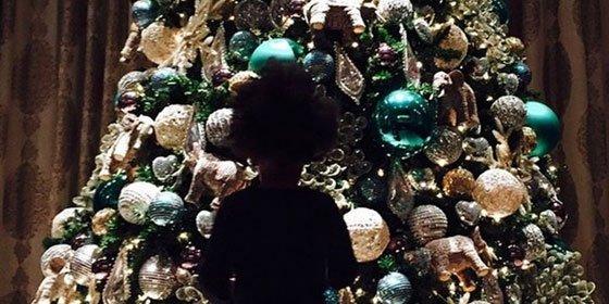 Beyoncé y su familia, listos para Navidad
