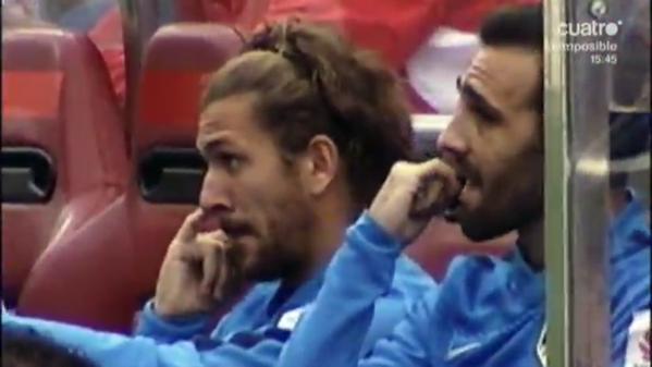 'Cazan' a Cerci comiéndose los mocos en el banquillo del Atlético