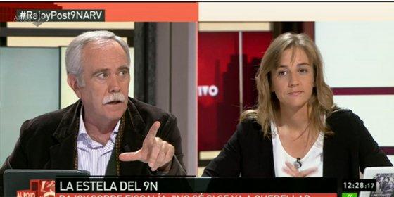 """Pérez Henares corta en seco a Tania Sánchez: """"Prefiero debatir con mis compañeros periodistas"""""""