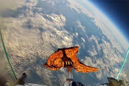 El vídeo de la chuleta de cordero que viajó al espacio y que ha vuelto a la Tierra