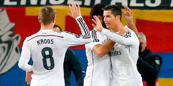El Madrid gana al Basilea (0-1) y alcanza las quince victorias consecutivas