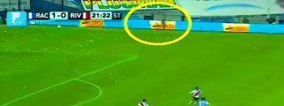 La TV graba el fantasma de un histórico jugador de fútbol durante un partido