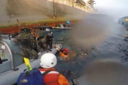 La batalla marítima entre Greenpeace y la Armada... que pinta un negro horizonte