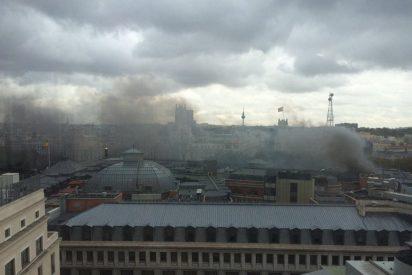 Arde el Banco de España: Un incendio en la azotea provoca tres heridos