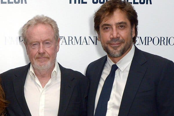 """El director Ridley Scott deja tiritando a Javier Bardem: """"Es un agonías. Penélope es la que lleva los pantalones"""""""