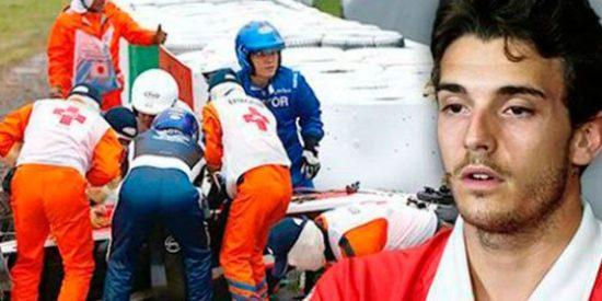 El piloto de Fórmula 1, Jules Bianchi, sale del coma y ya respira sin ayuda