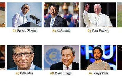 El Papa se mantiene como la cuarta persona más influyente del mundo