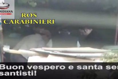 El vídeo del secreto ritual para 'trabajar' en la mafia calabresa que marca un hito