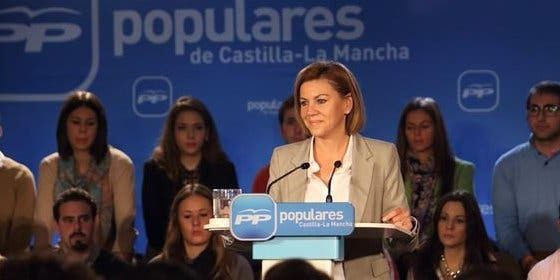 "Cospedal asegura que el PP ""no va a permitir que nadie rompa o divida a España"""