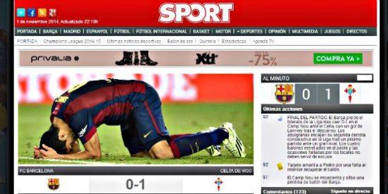 Un corajudo Celta derrota al Barça en el Camp Nou y pone líder a un luminoso Real Madrid