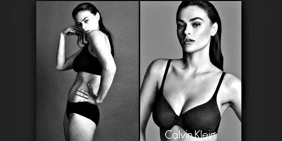 Pechos y sostenes: Para Calvin Klein, este es el cuerpo de una mujer de talla grande