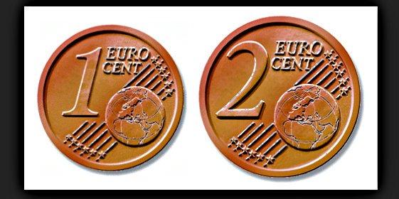 La banca presiona para retirar en España las monedas de 1 y 2 céntimos de euro