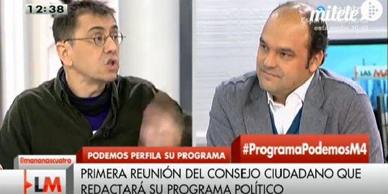 José Carlos Díez vuelve a quedarse con las ganas de que Monedero le explique su programa económico