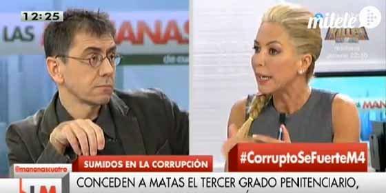 Montse Suárez vuelve a darle otra lección de Derecho básico a Monedero