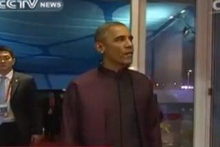 [Vídeo] Obama aparece en China mascando chicle y en el país se mastica la ira