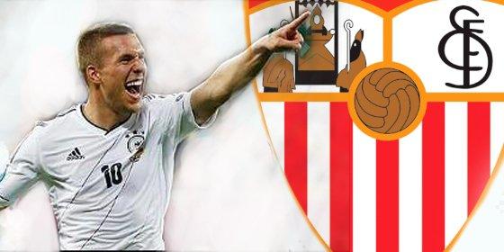 ¿Esta dispuesto Podolski a fichar por el Sevilla?