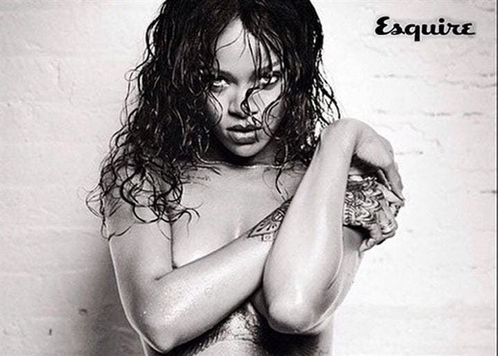 Rihanna quita el frío con su provocativa sesión para Esquire