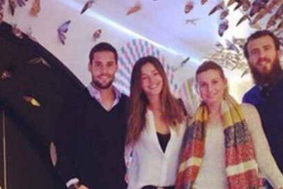 El futbolista del Atlético cenó con uno del Real Madrid