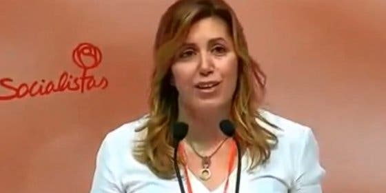 """Susana Díaz critica el """"abuso"""" del PP del artículo 135 de la Constitución"""