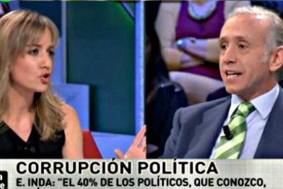 Las 'broncas' de Eduardo Inda: Tania Sánchez (IU) le llama 'cansino' y Carolina Bescansa (Podemos) lo califica de 'boca sucia'