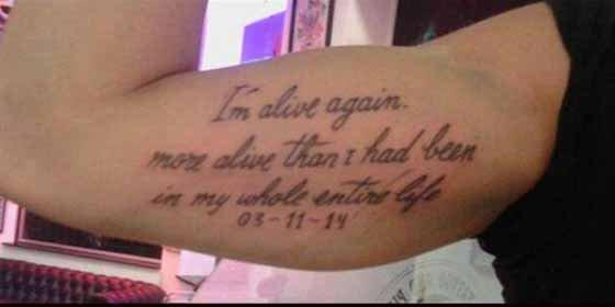 El tatuaje de Jonás Gutiérrez tras superar su cáncer