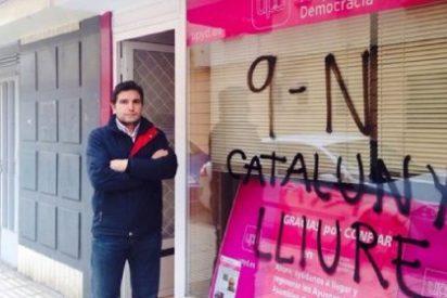 UPyD denuncia pintadas independentistas en su sede de Badajoz