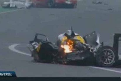 Webber sale ileso de un espeluznante accidente