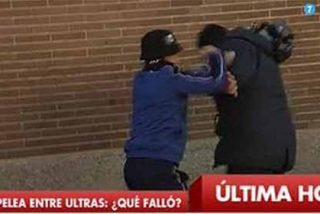 Agreden a un cámara en la salida del féretro del ultra del Deportivo