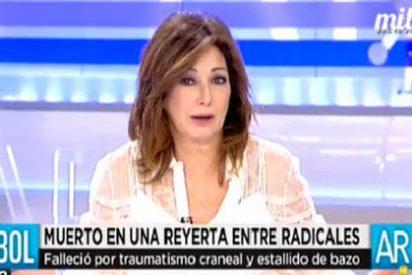 Ana Rosa le saca tarjeta roja a la Comisión Antiviolencia por la muerte de un ultra del Deportivo