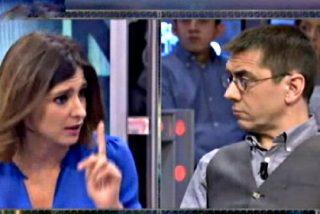 Sandra Barneda da unos 'azotes' a Juan Carlos Monedero por informal y mentirosillo