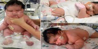 Una madre da a luz a un bebé de más de 6 kilos contra todo pronóstico médico