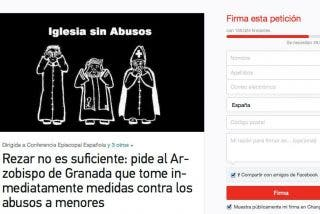 La iniciativa que pide más contundencia al arzobispo de Granada supera los 150.000 apoyos