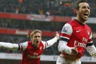 Cazorla se 'desmadra' en la fiesta del Arsenal