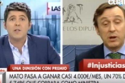 Rafael Hernando regresa a Cuatro para recordarle a Cintora su compadreo con Pablo Iglesias