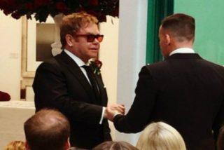 La boda privada de Elton John y David Furnish que compartieron en Instagram
