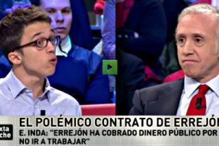 """Eduardo Inda a Íñigo Errejón: """"Has cobrado dinero público por no ir a trabajar"""""""