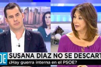 """Ana Rosa se chotea de Juan Segovia por decir que votó a Madina: """"¡Qué poco futuro tienes!"""""""
