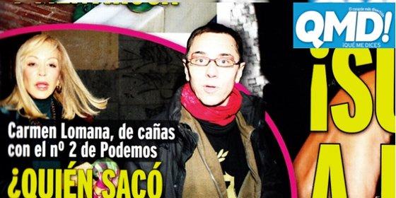 """Carmen Lomana 'sella' la paz con Monedero: """"Es una persona inteligente, culta, cálida y agradable"""""""