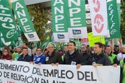 Profesores de Religión se manifiestan en Sevilla por la reducción de la asignatura