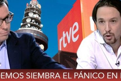 Los inquisidores de TVE linchan a Sergio Martín y permiten a Iglesias intimidar a tertulianos del 24 Horas