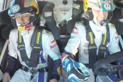 Neymar, copiloto del bicampeón del WRC Sébastien Ogier por Montserrat