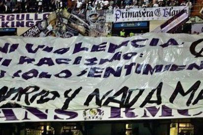 La grada joven del Real Madrid se muestra en el Bernabéu contraria a la violencia en el fútbol