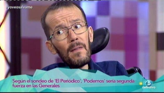 """Pablo Echenique intenta incendiar 'Hable con ellas': """"Botella es alcaldesa y sigue habiendo agua en Madrid"""""""