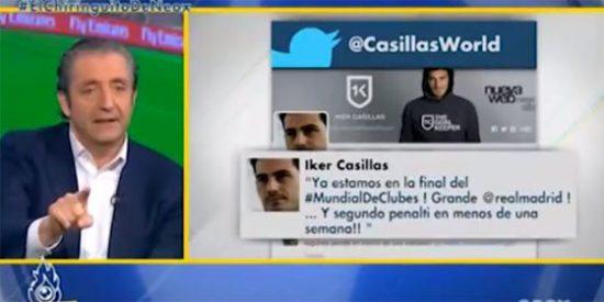 """Barceló habla de """"autobombo"""" en el tuit personal de Casillas y Pedrerol le corta: """"Nosotros somos líderes todas las noches y también lo ponemos"""""""
